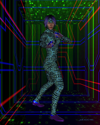 Digital Art - Woman In Cyber Passage by Judi Suni Hall