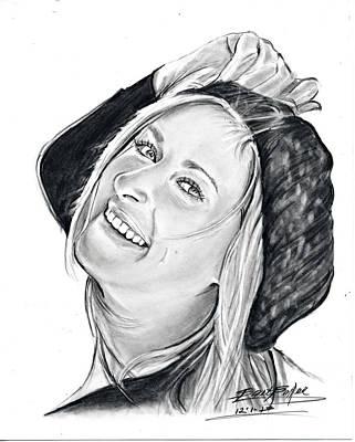 Woman In Hat Art Print by Barb Baker