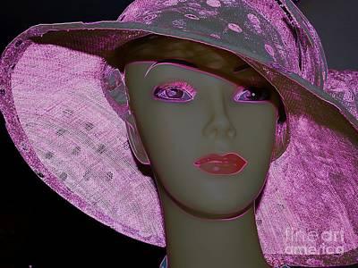 Digital Art - Woman In Hat by Ed Weidman