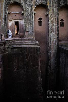 Photograph - Woman In Lalibella Ethiopia Rock African Coptic Churches by Jacek Malipan