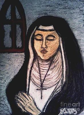 Pastel - Woman In Prayer by Neil Stuart Coffey