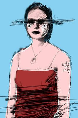 Andy Warhol Digital Art - Woman In Red Dress by H James Hoff
