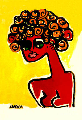 Painting - Woman In Red by Lydia L Kramer
