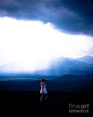 Photograph - Woman In Storm by Scott Sawyer