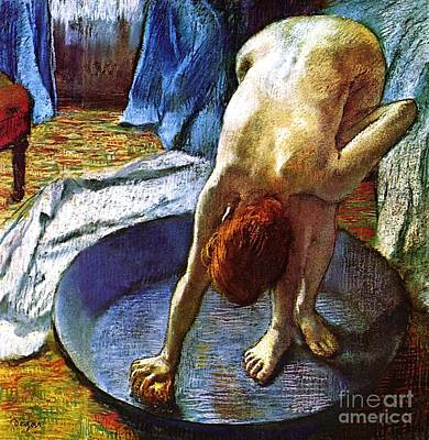Painting - Woman In The Bath by Pg Reproductions
