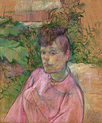 Woman In The Garden Of Monsieur Forest Art Print by Toulouse-Lautrec