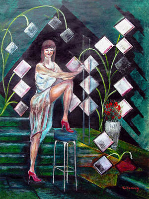 Painting - Woman In The Green Room by Tom Conway