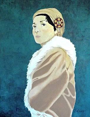 Woman In The Tan Coat Original