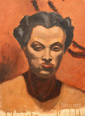 Painting - Woman In Thought  by Art By Tolpo Collection