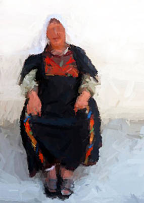 Photograph - Woman In Traditional Dress by Munir Alawi