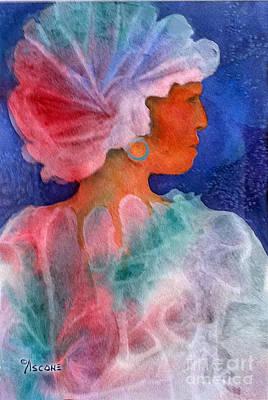 Woman In Turban Art Print