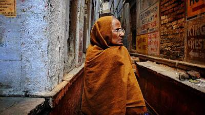 Photograph - Woman In Varanasi by Greg Holden
