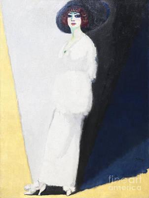 Van Dongen Photograph - Woman In White By Kees Van Dongen by Roberto Morgenthaler