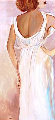 Alluring Painting - Woman In White by Debi Starr