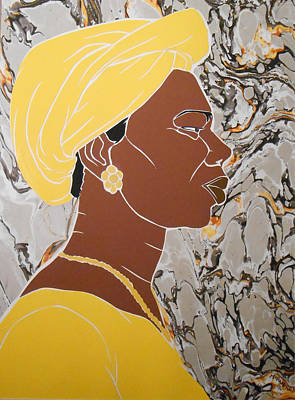 Mixed Media - Woman In Yellow by Martha Rucker