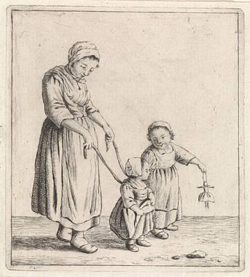 Christina Drawing - Woman, Johannes Christiaan Janson, Christina Chalon by Johannes Christiaan Janson And Christina Chalon