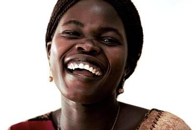 Woman Laughing Art Print