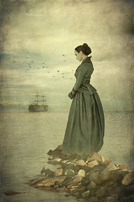 Photograph - Woman Looking Out To Sea by Ethiriel  Photography