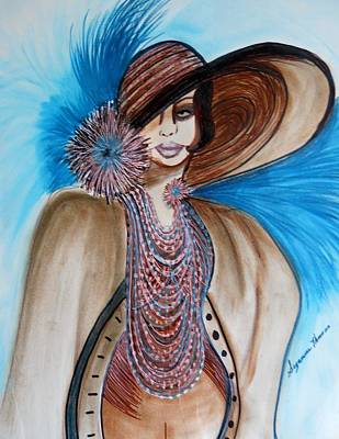 Woman Lost Art Print by Suzanne Thomas
