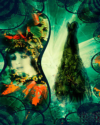 Digital Art - Green Mystery Montage by Femina Photo Art By Maggie