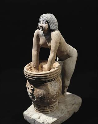 African Ceramics Photograph - Woman Making Beer. Ca. 2465 Bc. Servant by Everett