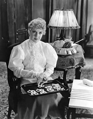 Pretzels Photograph - Woman Making Pretzels by Underwood Archives