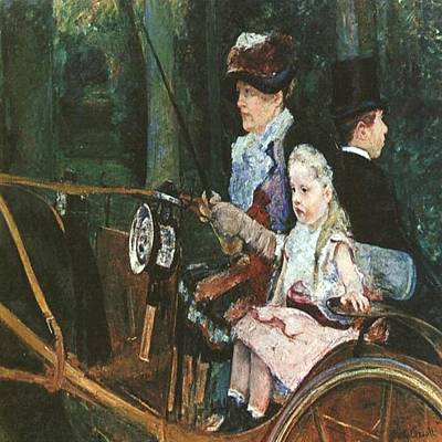 Painting - Woman N Child In Driving Seat by Florene Welebny