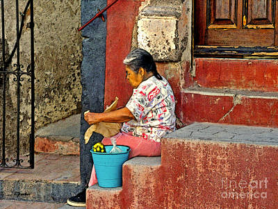 Woman Of Colonial Mexico Art Print by Linda  Parker