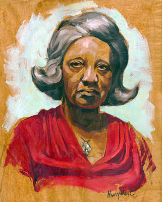 African-american Painting - Woman Of Color by Harry West