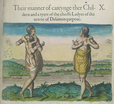 Theodor De Bry Photograph - Woman Of Dasamonquepeuk by British Library