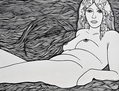 Woman Of Fifty Art Print by Jose Alberto Gomes Pereira