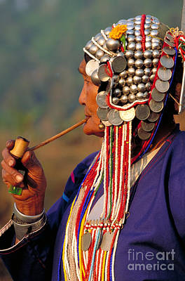 Photograph - Akha Hill Tribe Woman  Thailand by Art Wolfe