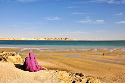 Woman Of The Desert Art Print by Manu G