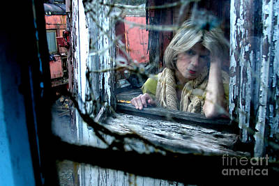 Woman On A Train Art Print by Anthony Gordon Photography
