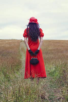 Woman On Field Print by Joana Kruse