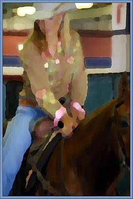 Jerry Sodorff Royalty-Free and Rights-Managed Images - Woman On Horse 5193 by Jerry Sodorff