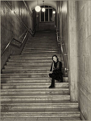 Photograph - Woman On Stairs by Robert Knight
