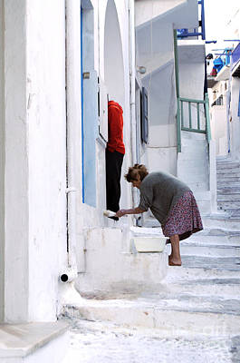 Photograph - Woman Painting Walls Candid Shot by Haleh Mahbod
