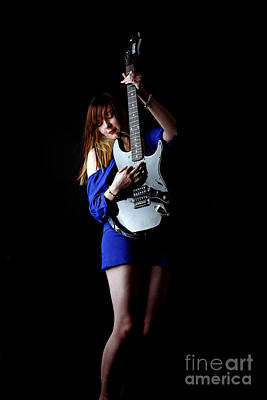 Photograph - Woman Playing Lead Guitar by Craig B