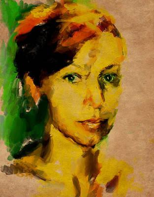 Woman Portrait 10 Art Print