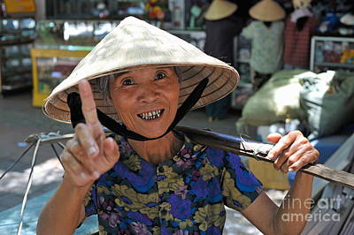 Photograph - Woman Portrait At Market In Hue by Sami Sarkis