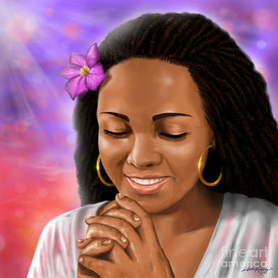 African-american Digital Art - Woman Praying by Josh Kennedy