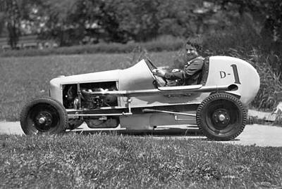 Agility Photograph - Woman Race Car Driver by Underwood Archives