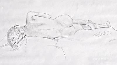 Woman Reclining Art Print