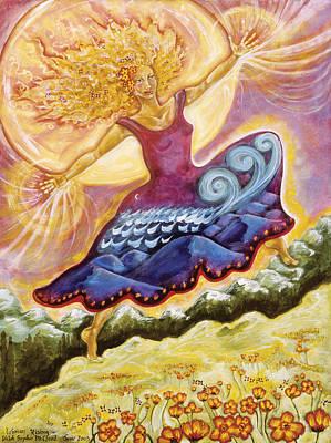 Cosmic Painting - Woman Rising by Shiloh Sophia McCloud