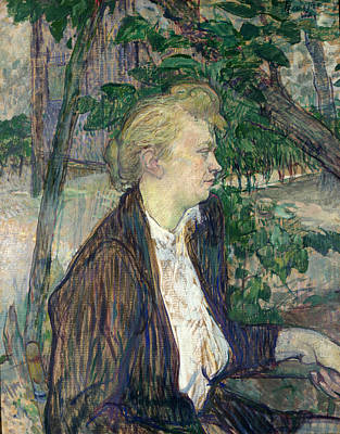 Painting - Woman Seated In A Garden by Henri de Toulouse-Lautrec
