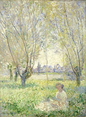 Willow Trees Painting - Woman Seated Under The Willows by Claude Monet