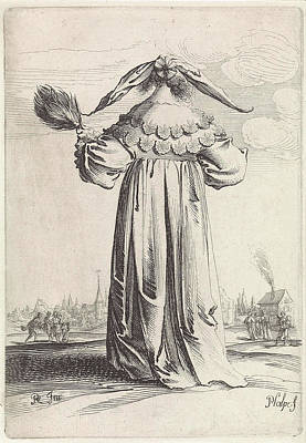 Woman Seen From The Back, Pieter Nolpe Art Print