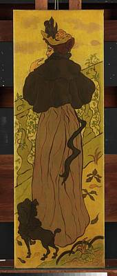 Ranson Painting - Woman Standing Beside Railing by Paul Ranson