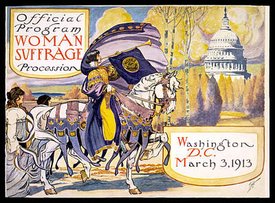 Suffrage Painting - Woman Suffrage Parade  by Celestial Images